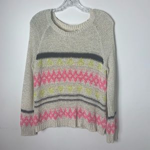 Sweater crochet bold color strips by mustered seed